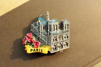 Notre Dame DE Paris, France Tourist Travel Souvenir 3D Resin Fridge Magnet Craft