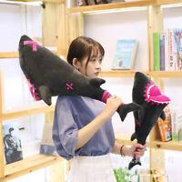 Anime Identity V Leo Shark Plush Doll Hammer Weapon Stuffed Toys Cosplay Props
