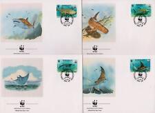 Kiribati 1991 World Wildlife Fund - Fish - 4 First Day Covers FDC - (10)