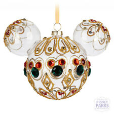 Disney Parks Mickey Mouse Icon Glass Ornament - Bejeweled