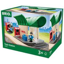 BRIO 33745 Train Station for Wooden Train Set