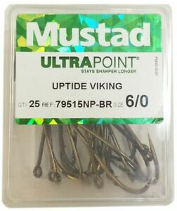 Mustad Ultra Point 79515 Uptide Viking Sea Fishing Hooks - Box of 25 - All Sizes