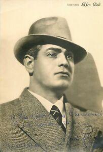 Opera - Autografo del baritono Afro Poli (Pisa, 1902 - Roma, 1988)