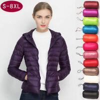 Womens 90% Duck Down Jacket Lightweight Winter Outerwear Coat Puffer Hoodie Warm