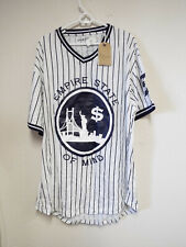 Brand New Empire State Of Mind Men's Jersey Size 5XL White w/blue stripes (damag
