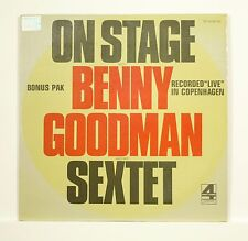 """ON STAGE with BENNY GOODMAN & HIS SEXTET"" 12"" LONDON [Double Stereo LP]"