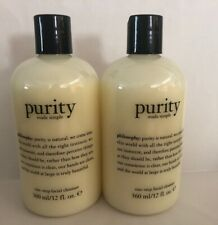 2XPhilosophy Purity Made Simple 1-Step Facial Cleanser 12 oz/360 ml Sealed FRESH