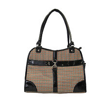 """New Fashion Houndstooth Print Tote Pet Cat Animal Bag Carrier W16""""xH11""""xD8&#0 34;-757"""