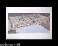 Frank Lloyd WRIGHT Lithograph #'ed LIMITED Ed. ~Lexington Terrace Apt +FRAMING