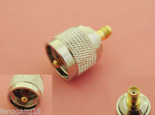 UHF PL259 Male Plug to SMA Female Jack Straight RF Adapter Connector Converter