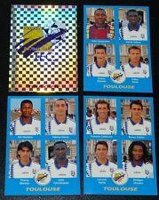 PANINI FOOT 96 TOULOUSE FC Téfécé STADIUM COMPLET FOOTBALL SAISON 1995-1996