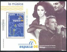 Spain 2006 Music/Singers/Guitar/Singing/Arts/People/StampEx 1v m/s (n39684)