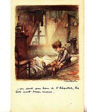 CC38. Vintage French Postcard.National League against slums. Illness
