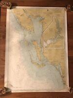 "Santibel Island Estero Bay To Lemon Bay Charlotte Harbor 35"" x 48"" Map Wall"