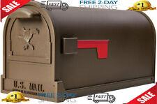 Large Capacity Galvanized Steel Textured Bronze, Post-Mount Mailbox
