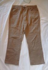 Lee Women's Relaxed Waist Fit Tan Straight Leg Pants Size 16 M