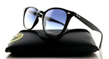 NEW Authentic RAY-BAN Black Light Blue Gradient Square Sunglasses RB 4258 601/19