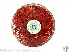 JET Red Jasper Orgone Tea Coaster Flower of Life Round Vedic Astrology 40 Page