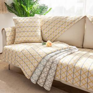 Frühling Baumwolle Leinen Sofabezüge Sofaschoner Sofaüberwurf Couchbezug Mat
