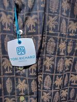 TORI RICHARD Balboa Black, Cotton Lawn Shirt, USA, NEW STORE INVENTORY 1264