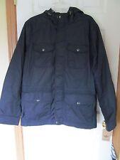 NWT Men's Docker's 100% Nylon hooded 6 pocket fleece lined Dark Blue Size M $160