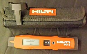 Hilti PD5 Laser Distance Meter with Case - Made in Germany