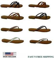 NEW Women's Summer Comfort Strappy Thong Flat Flip Flops Sandals Slipper Shoes