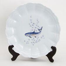 A. Giraud Limoges France, Fischdekor , Platzteller / Teller Nr4