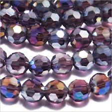 Lot de 20 perles à FACETTES 6mm en Cristal de Bohème Violet AB