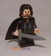 Lego CUSTOM Aragorn with Cape for Lord of the Rings Minifigure BRAND NEW cus112