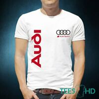 Fashion T-Shirt Men Audi RS Printed Tshirt Casual Cotton Women Top Tee Gift