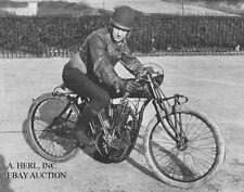 Indian 8 valve 61ci V-twin & Bert le Vack - Brooklands UK 1920 - photo