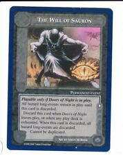 MIDDLE EARTH CCG The Wizards (Blue border)  THE WILL OF SAURON