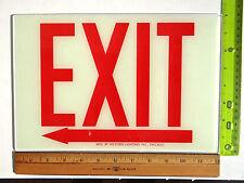 Exit Sign Replacement Glass Sz 12 X 8 Left Arrow