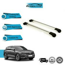 Fits VW TOUAREG 2010-2018 Roof Rack Cross Bars  Rails Alu GREY SET