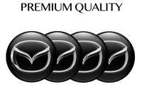 4 x 64 mm Logo Mazda  Print Aufkleber Badge Silikon Nabendeckel Radkappen