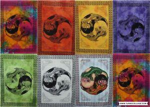 Tapestry Wall Hanging Yin Yang Dragon Ethnic Animal Printed Poster Home Decor