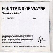 (EO287) Fountains of Wayne, Mexican Wine - DJ CD