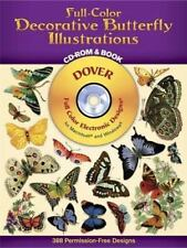 Dover Electronic Clip Art: Full-Color Decorative Butterfly Illustrations Dover