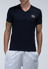 V Neck Patternless Fitted Casual Shirts & Tops for Men