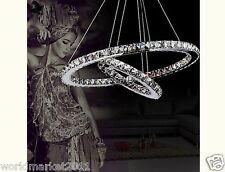 Modern Crystal LED Pendant Light Chandeliers Lamp Droplight Hanging Lighting