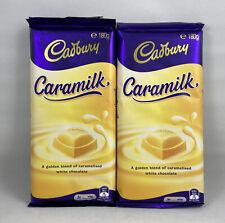 2x Cadbury Caramilk Block 180g Golden White - Australian Import