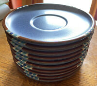 Dansk Mesa - Sky Blue Stoneware Saucers Set Of SIX - EUC