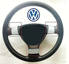 VOLKSWAGEN GOLF MK5 & GTI (2004-08) 3 STEERING WHEEL TRIMS -SILVER CARBON FIBRE