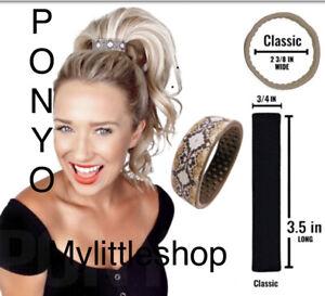 Genuine PONY-O Hair Silicone Band Snake Classic Nee