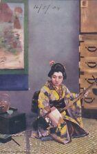 JAPAN :Playing the Samisen-TUCK 'Oilette' 6464