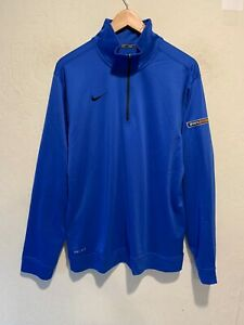 Nike Dri Fit Men's Quarter Zip Athletic Running Jacket Sz MEDIUM Co-Branded EUC