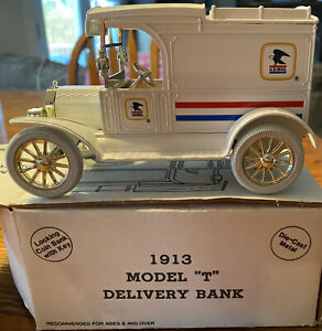Ertl 9532 1:25 Diecast 1913 U.S. Mail Limited Edition Model T Delivery Coin Bank