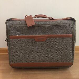 "Hartmann Rolling Tweed Suitcase 22"" Leather Garment Bag"
