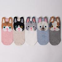 KITTY CAT CARTOON SOCKS 5 pairs=1pack women girl cute MADE IN KOREA socks